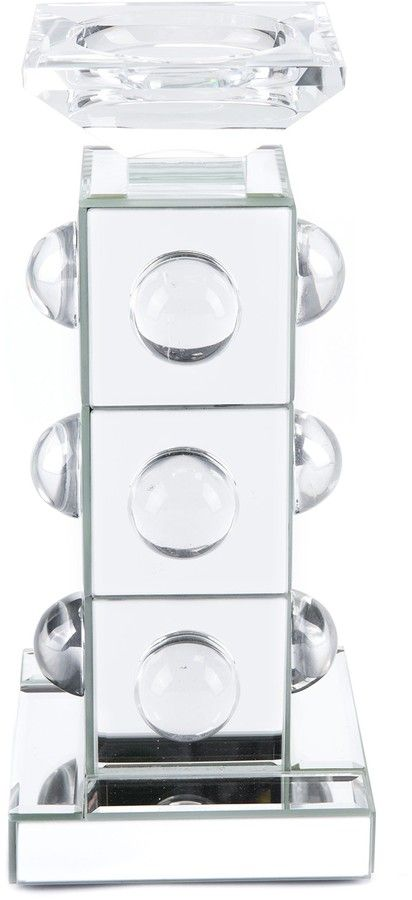 Zuo Era Mirrored & Lucite Small Candle Holder