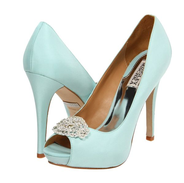 Badgley Mischka Goo Sky Blue Silk Something Eh