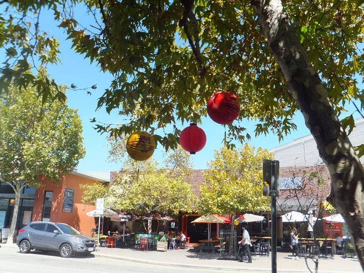 Chinese lanterns to welcome the new year. East end of High St, Fremantle