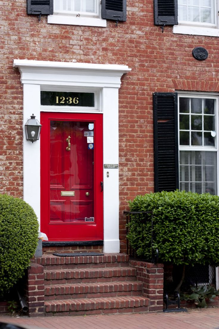 Front entry doors red - Find This Pin And More On Home A Door Able Red Storm Door And Red Front Door