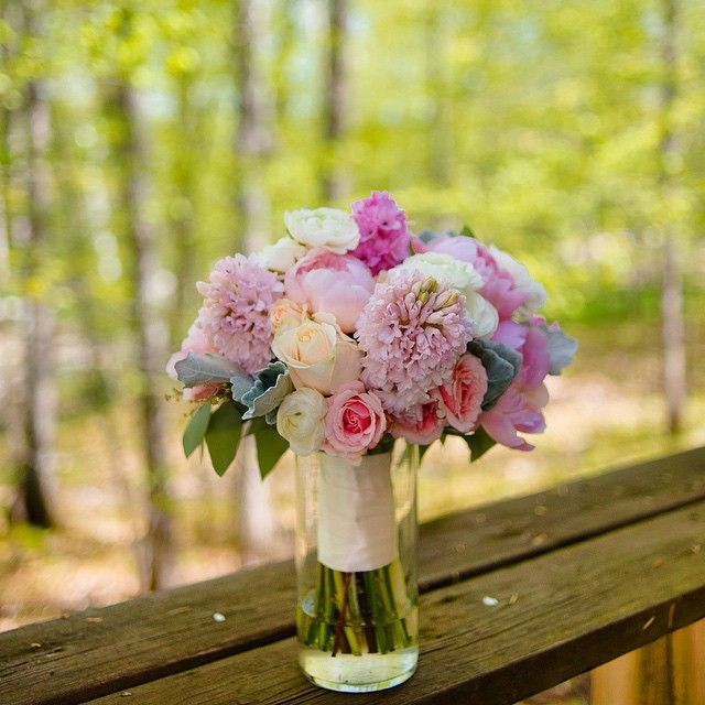 June wedding flowers to brighten this up. Bouquet by seasons in the country.