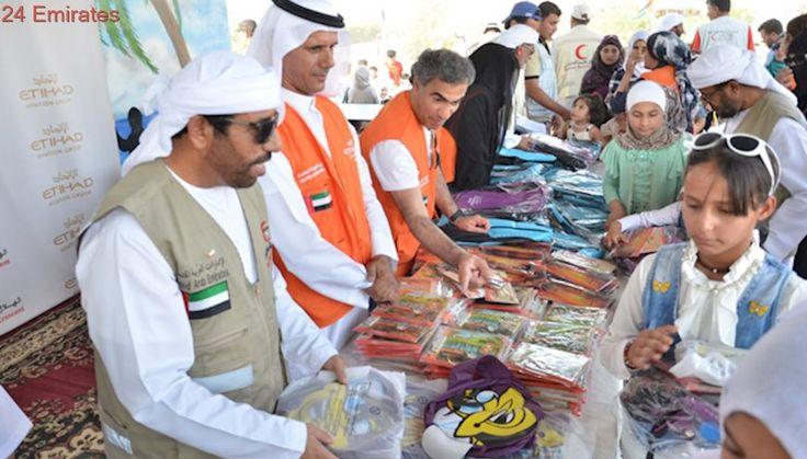 Etihad donates school supplies for Syrian refugee children