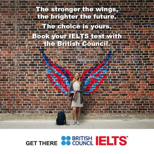 """""""The stronger the wings, the brighter the future."""" The choice is yours. Book your #IELTS test with the British Council."""