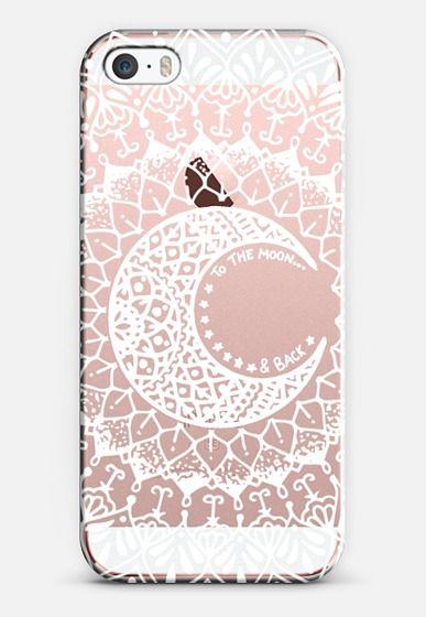 White Moon Mandala iPhone SE case by Jess Melaragni | Casetify
