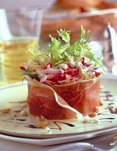 Salade d'endives, pommes Granny et Jambon de Parme