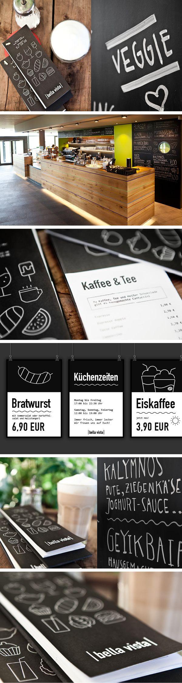 Bistro Bella Vista | Burger, Panini, Coffee - DAV Kletter- & Boulderzentrum München Freimann ----- #Corporate #Design #Menu #Burger