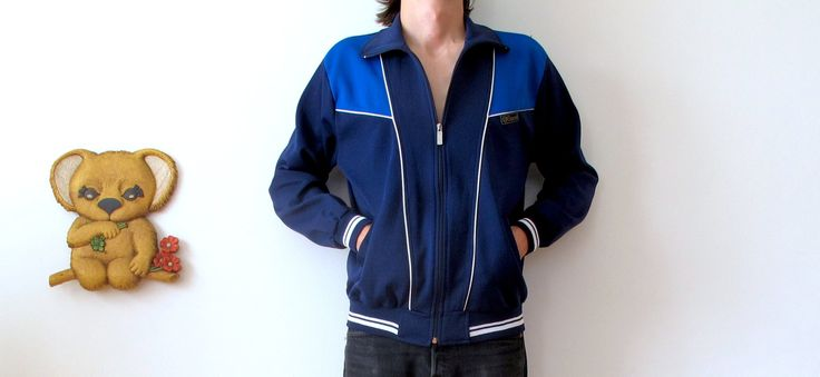 rare m/l/xl 90s dark blue gucci track jacket street wear aerobics jacket women's extra large mens medium mens large mod hipster clothing by shadyville on Etsy