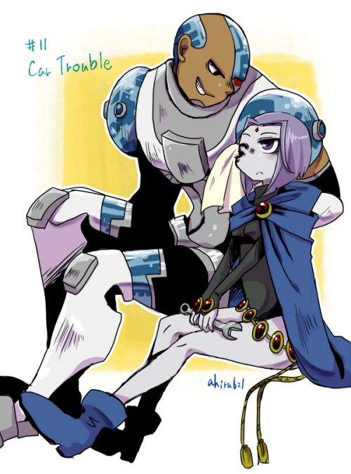raven and cyborg.....is it too late to realize I am a obsessed fan girl of teen titans?