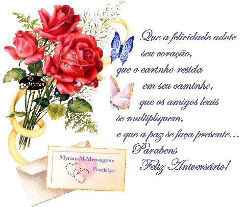 Imagens Cartoes De Aniversario Para Amiga Flowers Feliz