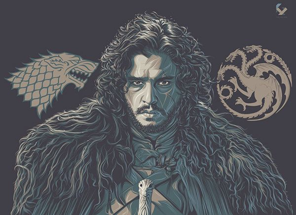 Game of Thrones (GOT) example #108: Game of Thrones Art Tribute on Behance