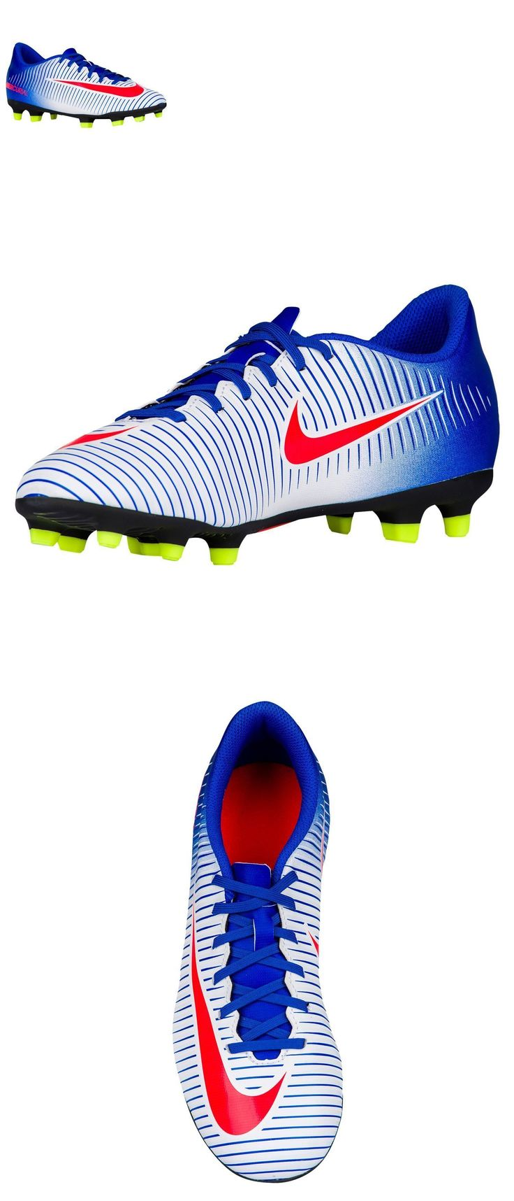 Women 159176: Nike Womens Mercurial Vortex Iii Fg White Soccer Cleats Shoes Blue Volt -> BUY IT NOW ONLY: $54.95 on eBay!