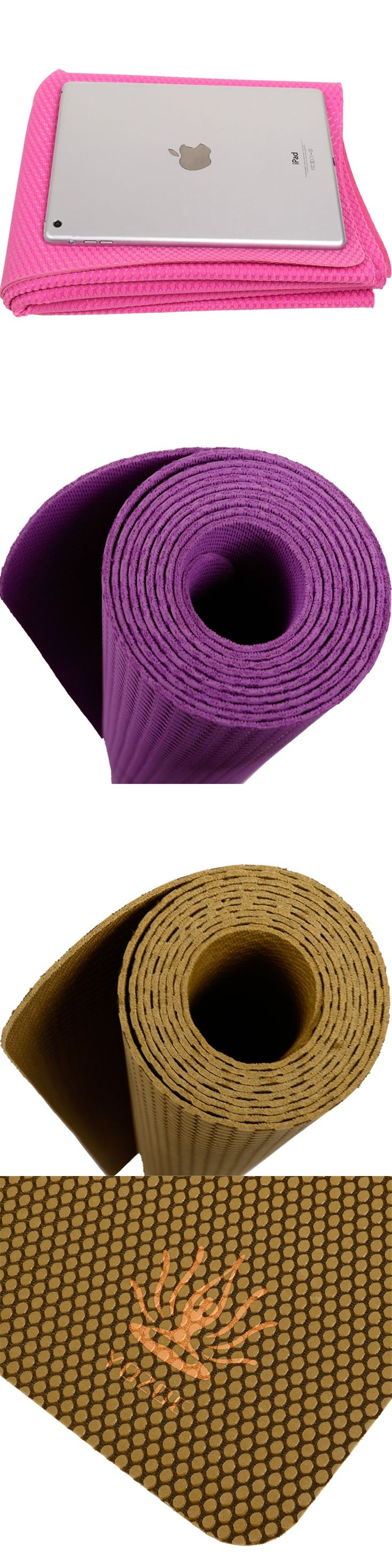 2017 High Quality Foldable Non-slip Surface Light Weight Comfortable 1.5mm Natural Rubber Yoga Mat for Beginner with Bag