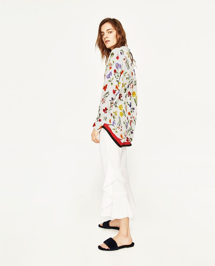 PRINTED BLOUSE-THE NEW FLORALS-WOMAN | ZARA United Kingdom