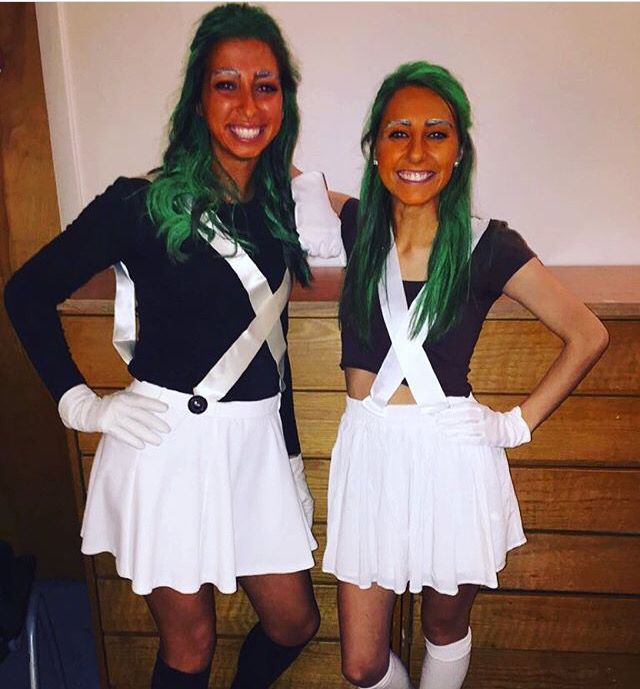 This was an easy DIY oompa loompa costume!! Do this if you really want a unique costume lol