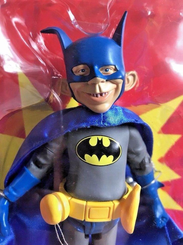 "NEW DC Direct MAD Magazine Alfred E Neuman Batman Just Us League 6"" Figure #1 #eBayDanna"