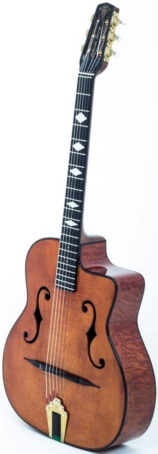 Jeongwoo Cho (JWC Guitars) Catania Swing Gipsy Jazz Guitar --- https://www.pinterest.com/lardyfatboy/