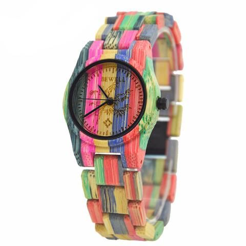 Multicolor Bamboo Wooden Watch