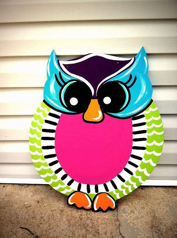 Hoot Owl Door Hanger by DoOdLeDotsAnDmOre on Etsy, $30.00