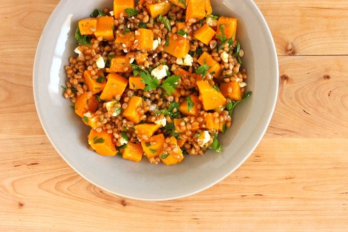 Butternut Squash and Wheat Berries