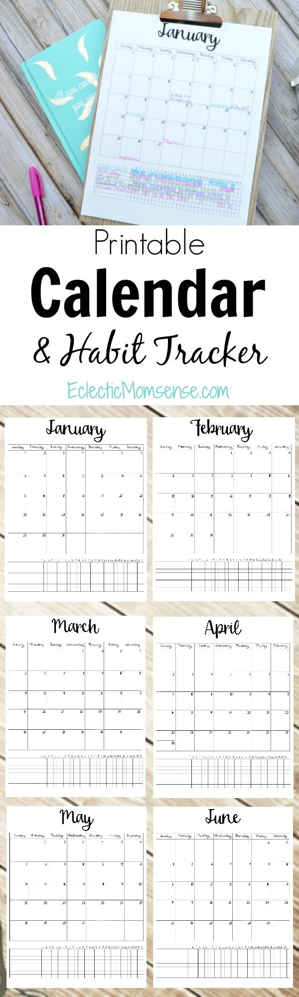 Grab this FREE Printable Calendar with Habit Tracking + Enter to win BIG with the #MyLittleWins sweepstakes.  #ad @walmart @zoneperfect