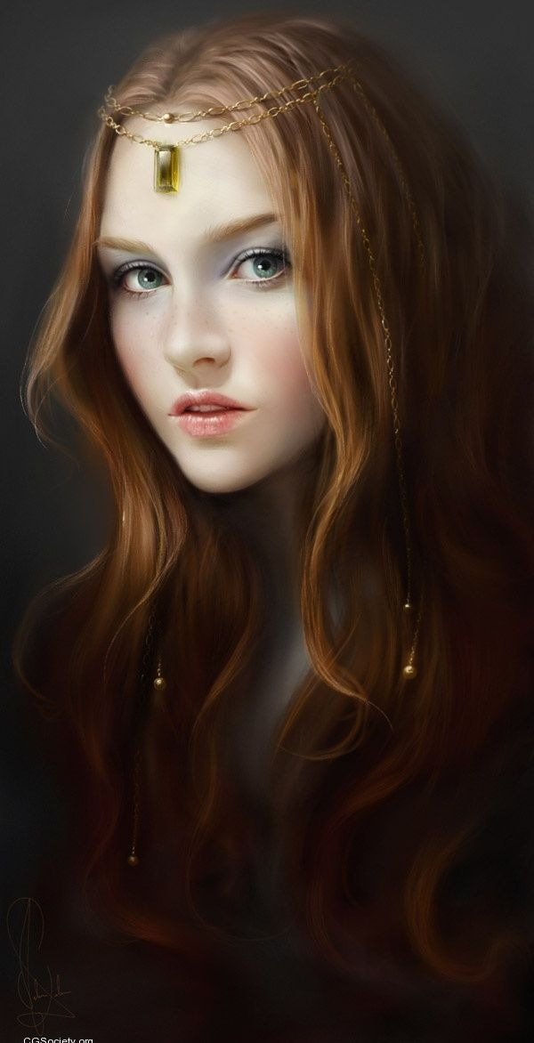 This looks kind of like Enna. I think her hair is darker red, though. More copper. But this is still really pretty.