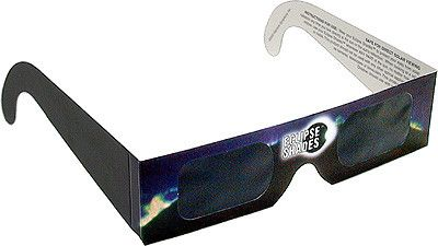 Eclipse Glasses CE Certified Safe Solar Shades with Black Frame - Pack of 5