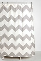 awesome shower curtain: Zigzag Shower, Urban Outfitters, Guest Bathroom, Kids Bathroom, Bathroom Ideas, Chevron Shower Curtains, Gray Chevron, Chevron Stripes, Grey Chevron