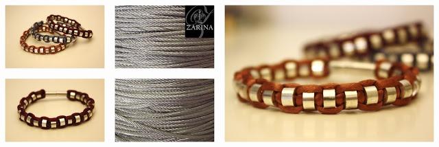 """Pulsera """"INOXCORD"""" Cuentas de acero inoxidable trenzas con cordón y rematadas con cierre de imán.  Exclusive by ZARINA"""