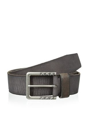 48% OFF John Varvatos Men's Harness Buckle Leather Belt (Black)