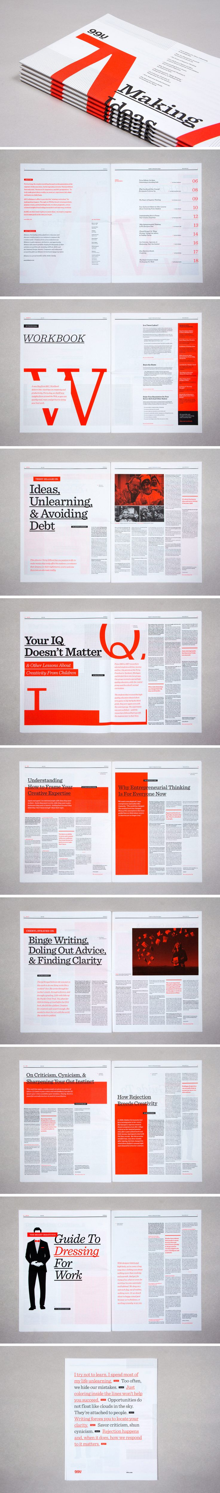 Editorial Design Inspiration: 99U #Magazine #print #design #editorial