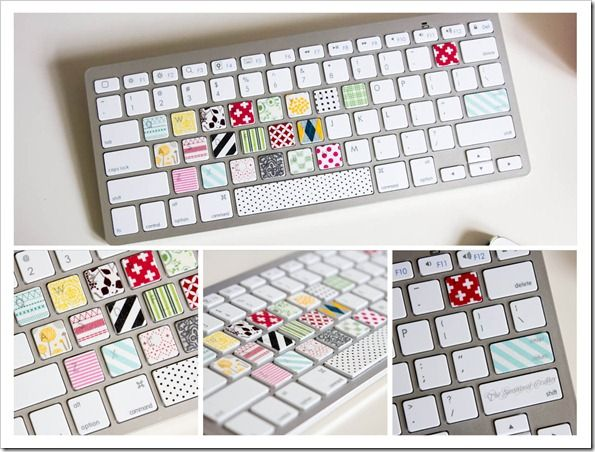 I don't think I would be allowed to do this, but it is very neat: Washi Tape Un, Crafts Ideas, Diy Crafts, Washi Tape Keyboard, Dorm Ideas, Mama Ideas, Offices Accessories, Apples Keyboard, Interesting Ideas