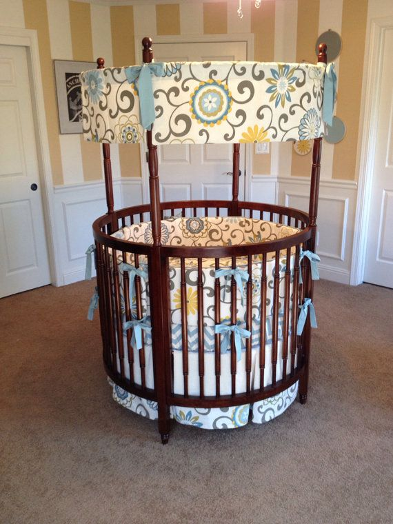 gender neutral nursery idea for a round crib Custom Round Crib ...