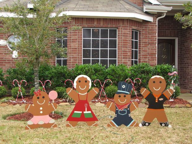 How to make christmas gingerbread decorations FOR YARD | ... gingerbread man yard decoration i love decorating my house for