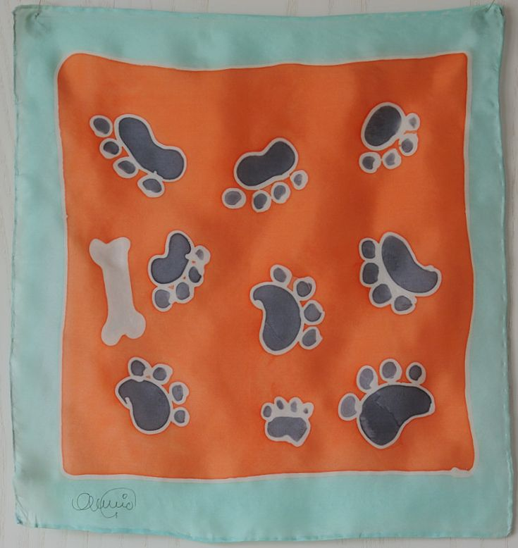 Badana en seda 28x28 cm.para mascotas, perros se hacen por encargo en www.eltallerdeseda.es