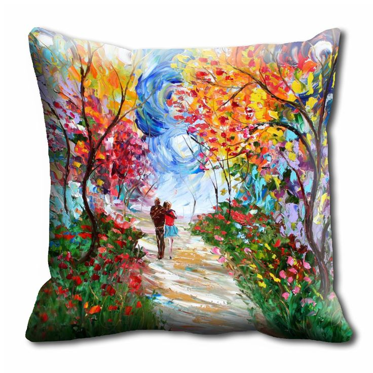 Painted Couple In Storm Cushion cover (16x16)  #cushions #cushioncovers #pinit #pinterset #shazliving #interior #homedecor Shop at: https://www.shazliving.com/