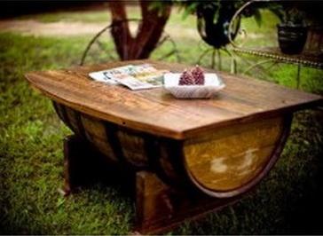 Whiskey Barrel Coffee Table Handmade From Kentucky Distillery Barrels