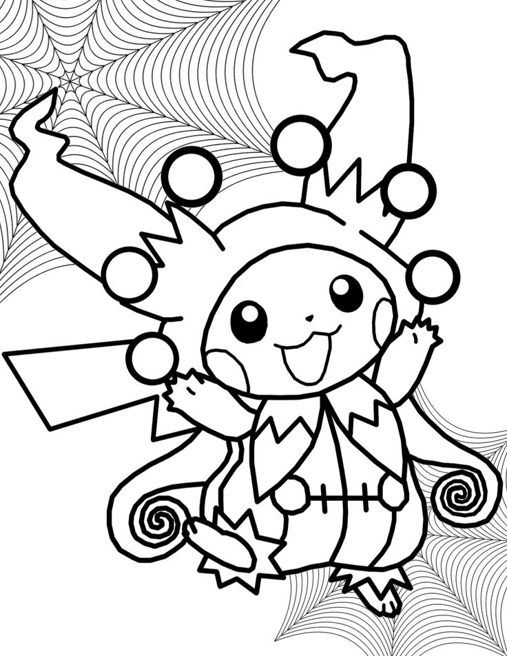 Pikachu Pokemon Coloring Pages Free Sheets Detective