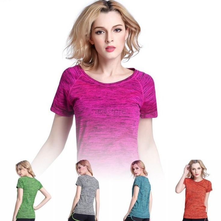 New  Women Lady Gym Sports Shirt Yoga Top Fitness Fashion Running T-shirt