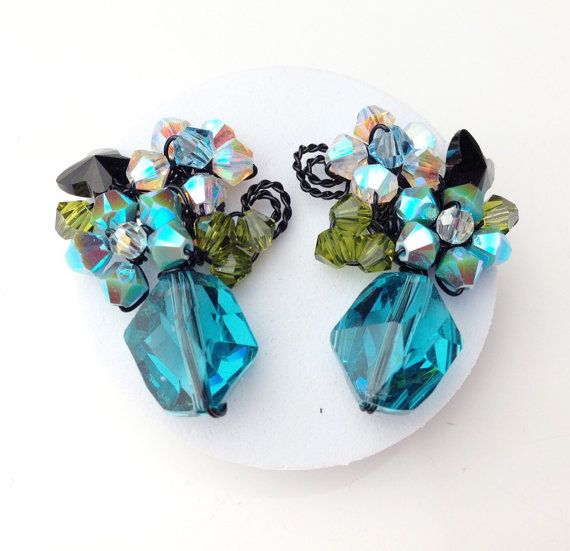 Bleu clair bleu bijoux Boucles d