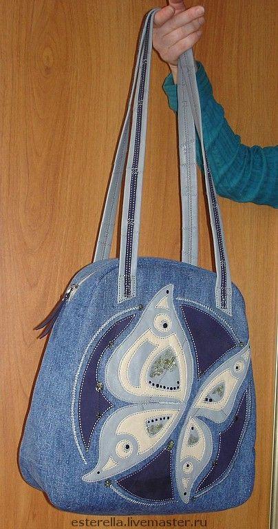 Купить джинсовая сумка - синий, джинса, повседневная сумка, джинсовая сумка, деловая джинса