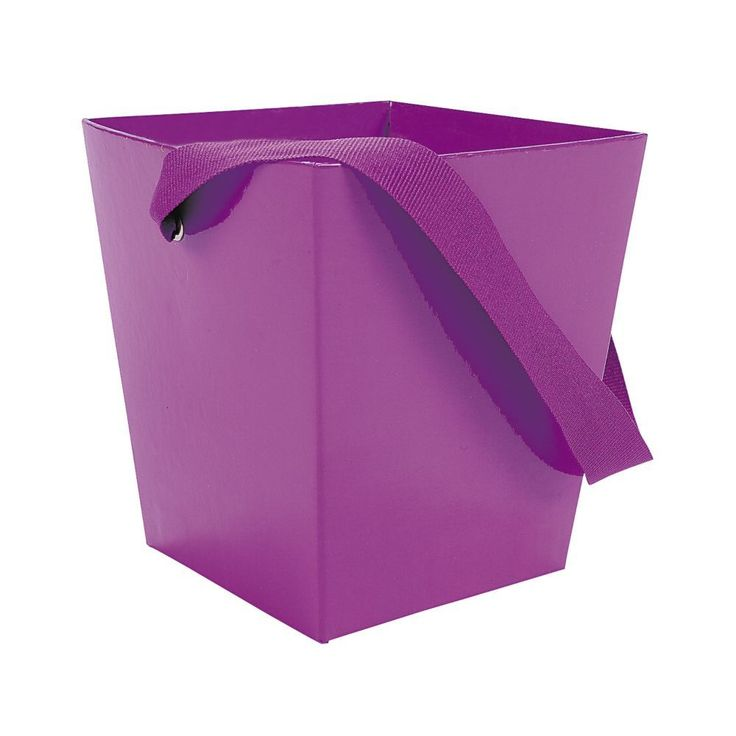 purple themed bridal shower%0A Purple Candy Buckets with Ribbon Handle