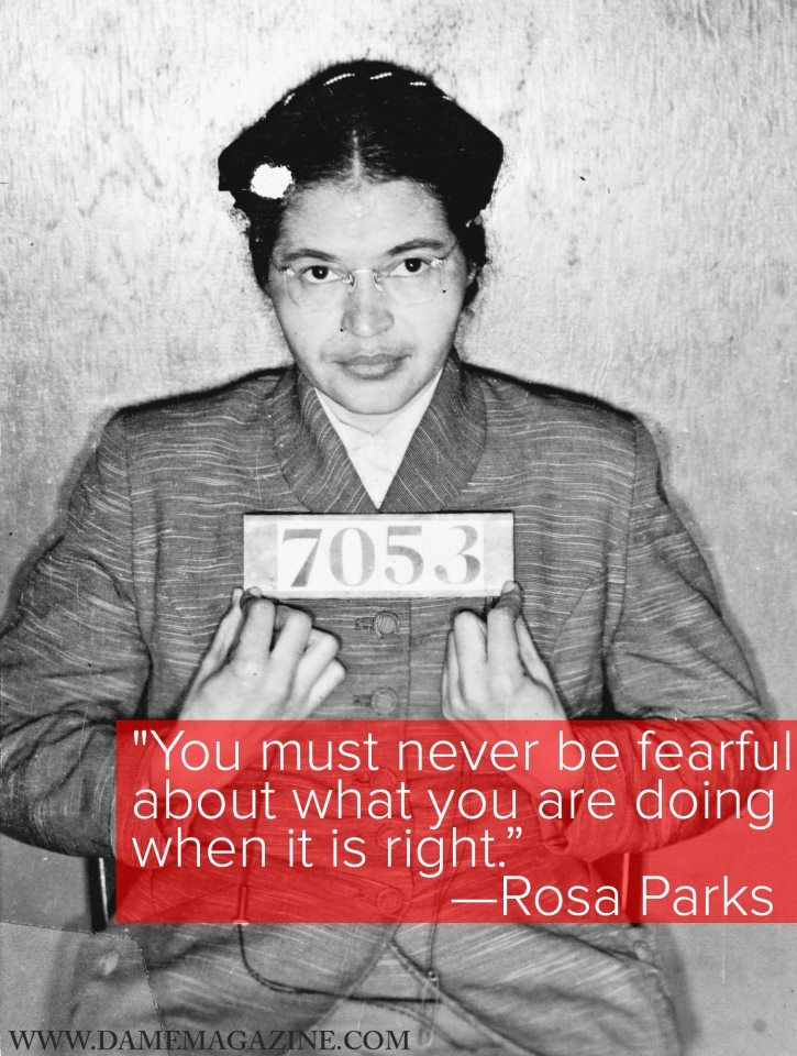 DAME ORIGINALS: On December 1, 1955, a seamstress and part-time activist named Rosa Parks boarded the bus like any other day, and took a seat in the foremost row for black people. When a white man boarded the bus, the bus driver told everyone in her row to move back. Parks refused to give up her seat. Although her act of defiance was not the first stand against bus segregation, Parks became a symbol for the Civil Rights Movement.