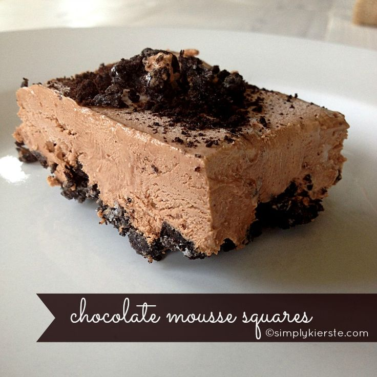 ... mousse squares | Recipe | Divine Chocolate, Mousse and Squares
