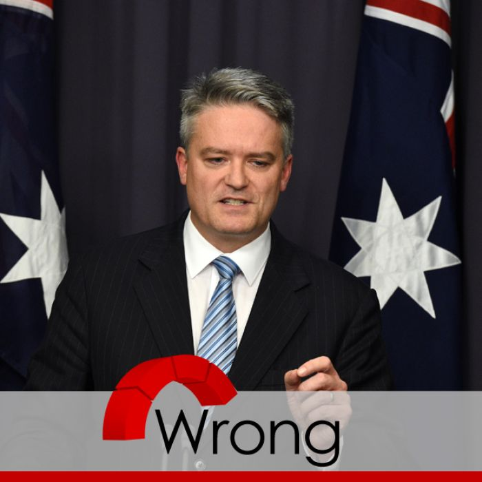 Was the previous Labor government responsible for a record deficit as Mathias Cormann suggests? ABC Fact Check runs the numbers.