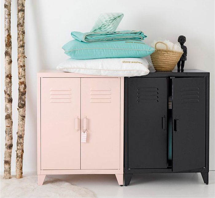 metal cupboards for kids' room from AM-PM These would be so cute at a little desk area