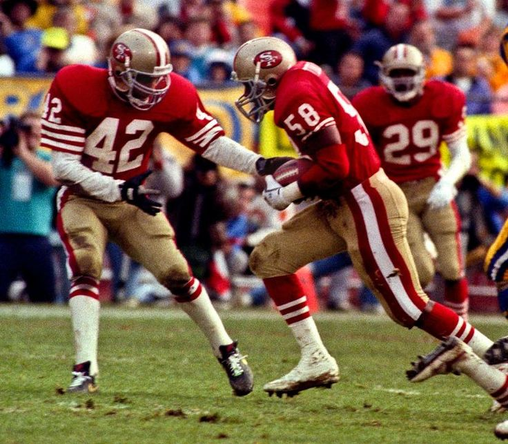 Ronnie Lott and Keena Turner of the 49ers.