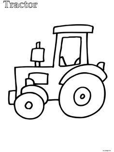 Teken boer boris op de tractor