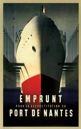 RETRO ART DECO EMPRUNT SHIP TRAVEL POSTER PRINT !