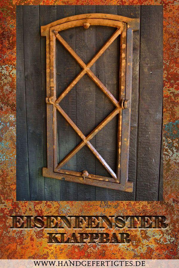 stehendes Fenster-wie antik Gusseisen-Stallfenster Raute Eisenfenster klappbar