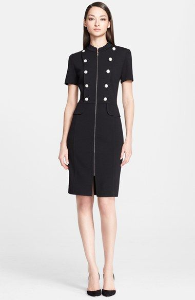 obsessed with this military-style dress on crazy sale during Nordstrom's Anniversary Sale!